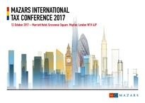 Mazars International Tax Conf 2017 - agenda and invitation