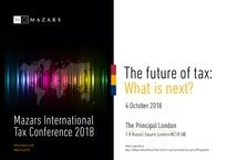 Mazars International Tax Conference 2018- invitation